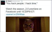 USA Network Builds Buzz For 'Mr Robot' Season 2 Premier, Live Social Media Leak
