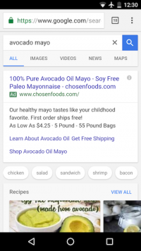 Google Adds Recipe Search To Mobile