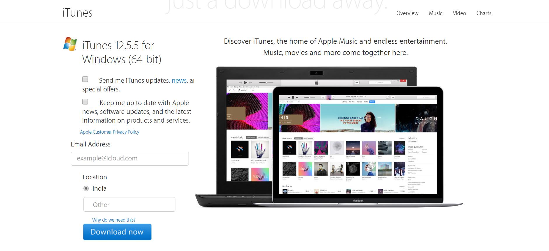 download apple itunes for windows 10 64 bit