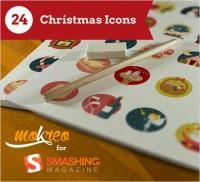Freebie: Christmas Icon Set (24, Icons, AI, PSD, EPS, PDF, SVG, PNG)
