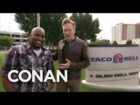Conan O'Brien Visits Taco Bell Headquarters (Video)
