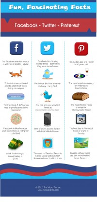 enjoyable, fascinating data about fb, Twitter & Pinterest (Infographic)