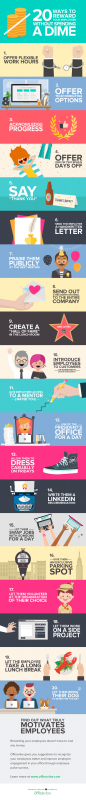 20 easy methods to Reward staff without cost (Infographic)