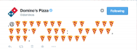 Domino's Pizza uses Emoji Storm To Tease Twitter-caused supply