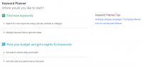 Google checking out New keyword Planner Interface?