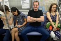 Manspreading, Upstreaming, And Other Awesome Stock Photos Of New Yorkers Doing Real NYC Things