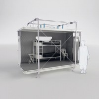 This disaster-aid construction Packs Flat And Assembles In An Hour