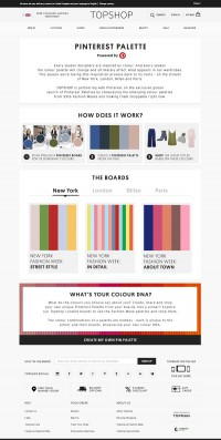 Topshop & Pinterest Unveil Pinterest Palettes For fashion Week fans & shoppers