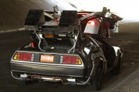 """A Geek's Dream: Tesla Races DeLorean In """"back To the future"""" VR expertise"""