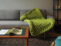The Cuddliest Blanket Ever Has 3-Inch-Thick Stitches
