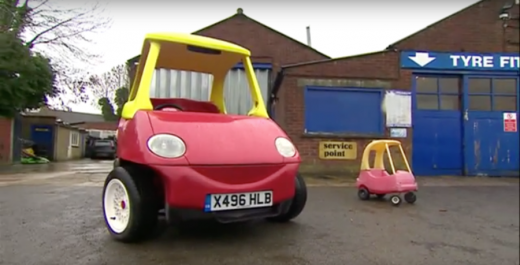 Brothers construct lifestyles-sized version of Little Tikes Toy automobile for Charity