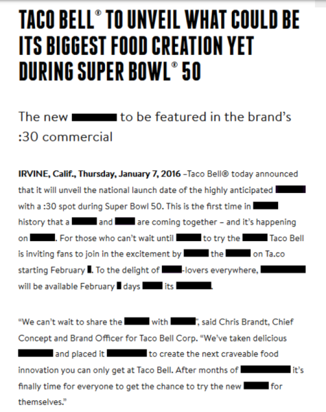 Taco Bell To reveal Its subsequent big Menu merchandise At tremendous Bowl 50…we think