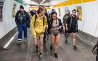 Emma Freud: Sitting in my Knickers onTthe teach For No Pants on The Subway Day