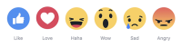 Why We Like Love fb's New Reactions