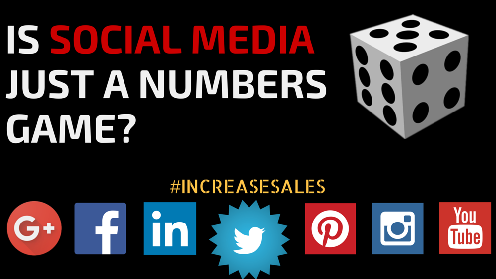 Is Social Media just a Numbers recreation? just a Numbers