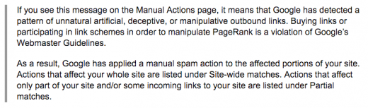 Google considerations guide motion Penalties for Unnatural exterior links Over The Weekend