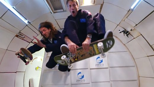 Watch Tony Hawk Show Off His Mad Skills in Zero Gravity