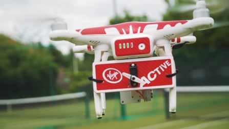 Get served by this tennis-instructing drone