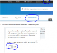 New LinkedIn Recruiting and Job Search Feature