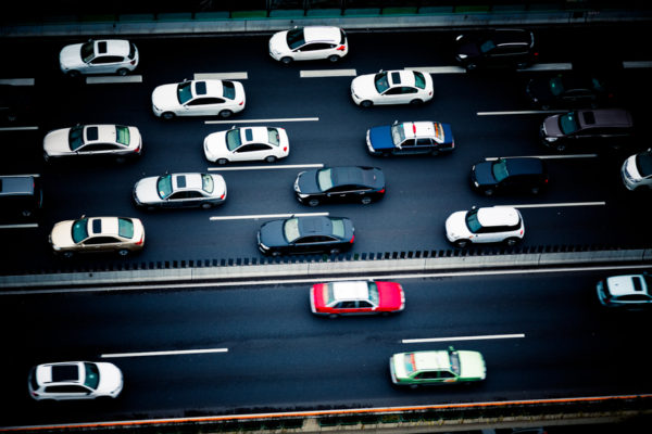 Highway ban squeezes lanes for China's self-driving car industry - traffic at night, shanghai china.