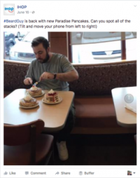 IHOP's Pancakes on a Beach Facebook Live-stream: Brilliant or Brutal?