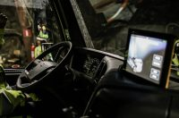 Self-driving truck moves deep underground