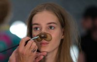 This Fashion Show Featured Snapchat Filter-Inspired Makeup on the Runway