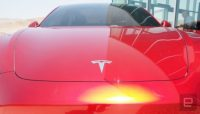 Tesla posts first profit in two years