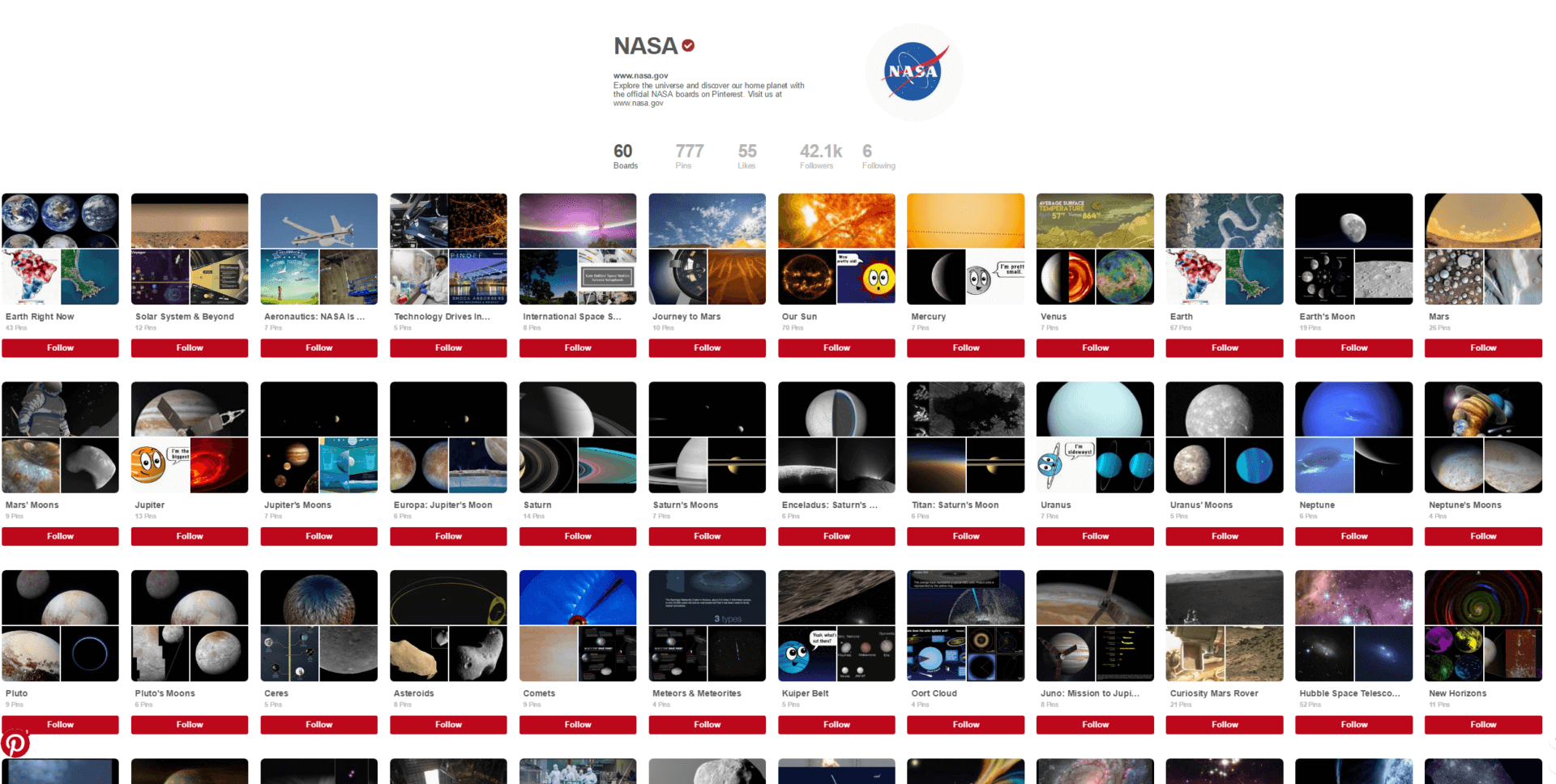 NASA has created official accounts on Pinterest and Giphy and they're pretty great