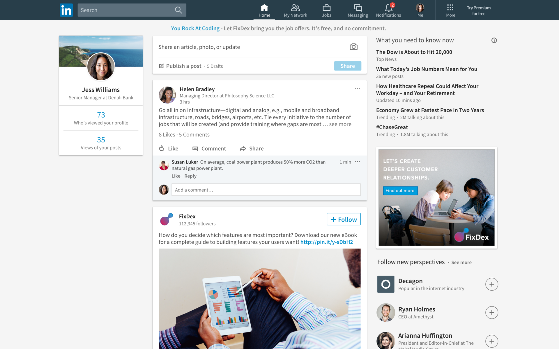 LinkedIn refreshes desktop interface, emphasizing content and conversation - LinkedIn New Feed