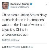 China's State Media Has Been Mocking Donald Trump's 'Unpresidented' Tweet