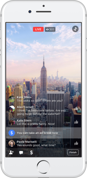 Facebook opens mid-roll ads to more Live broadcasters, starts non-live test