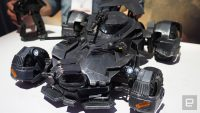 Batmobile toy uses augmented reality to show the driver's view