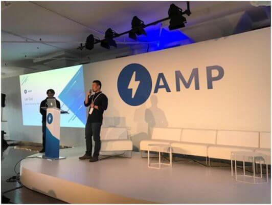 Gao Lei at Google AMP Conference, New York, March 7, 2017
