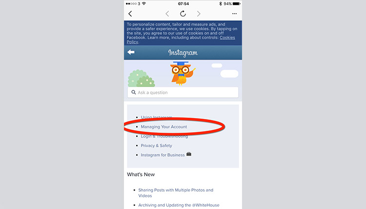 How to delete an instagram account devicedaily how to delete an instagram account step by step guide step ccuart Choice Image