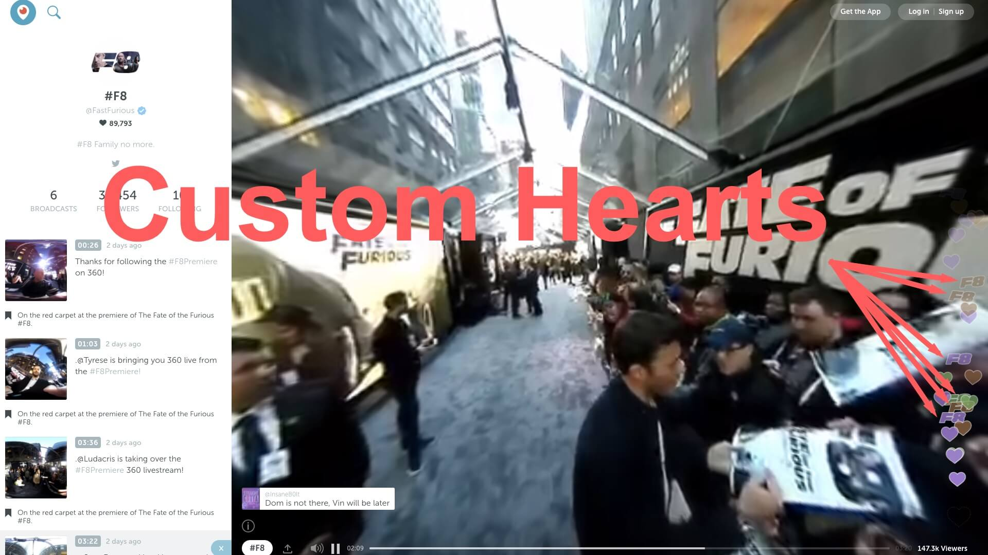 Twitter's latest ad format turns Periscope hearts into branded ones