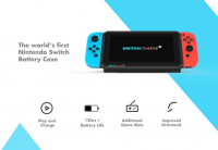 SwitchCharge Battery Case for Nintendo Switch Has 12,000mAh Mammoth Battery, Enhanced Kickstand