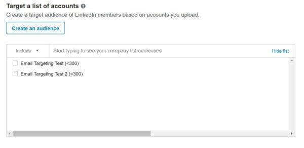 LinkedIn Ads Matched Audiences List