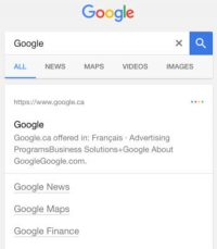 Google is testing variations of black links in search results