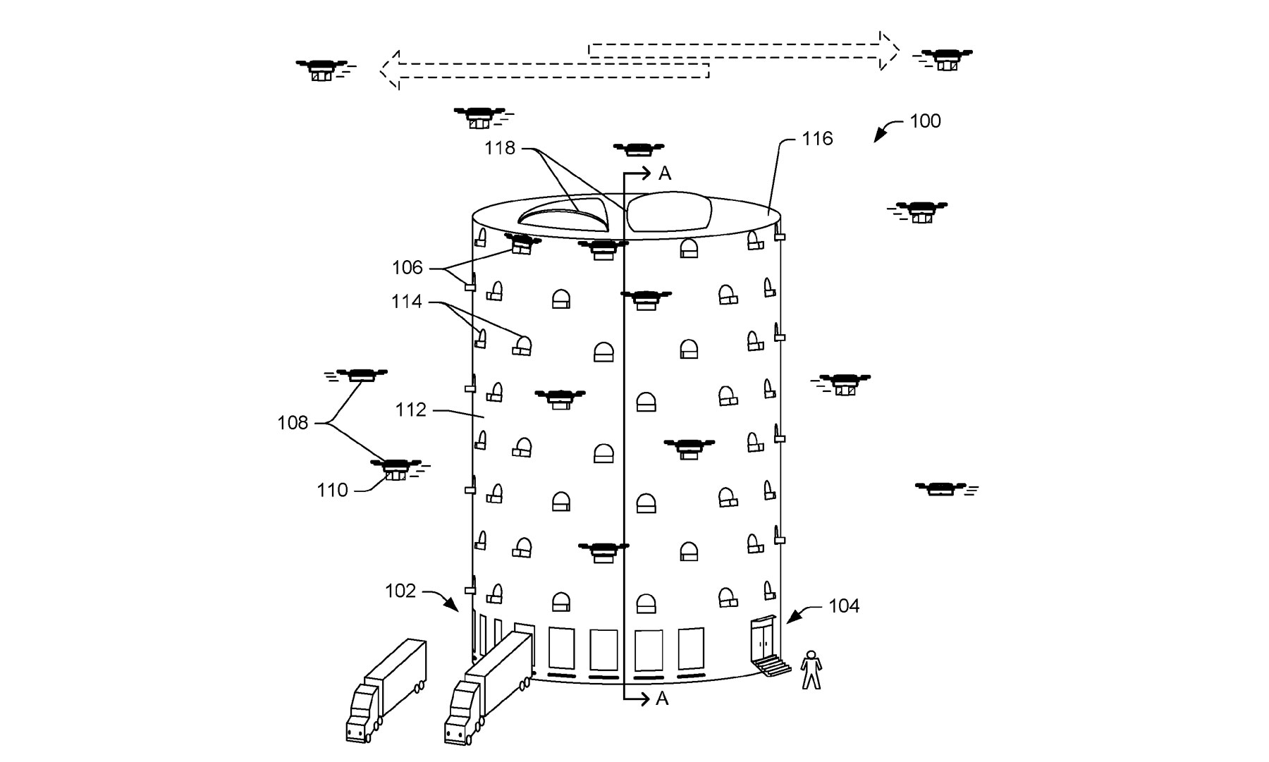 Amazon dreams of putting a giant drone beehive in your city | DeviceDaily.com