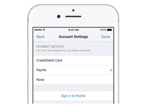 Apple adds PayPal as payment option for iTunes