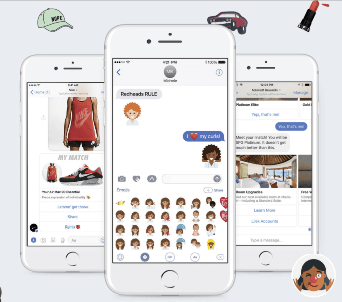 Bot, emoji and messaging screens created with Snaps' new self-service platform | DeviceDaily.com
