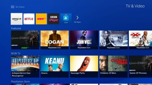 Redesigned PS4 media hub showcases the best streaming videos