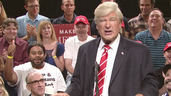 "Alec Baldwin's ""Weekend Update"" Sketch Does Not Bode Well For SNL's Return 