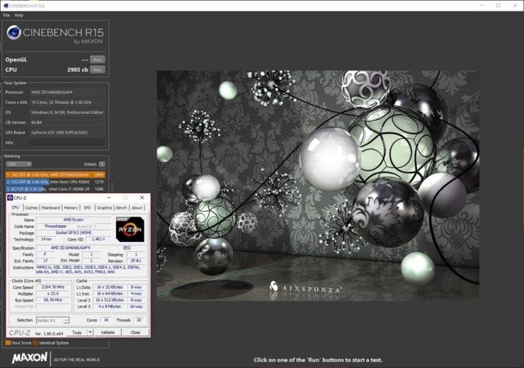 AMD Ryzen Threadripper 1950X is 30% Faster Than Core i9-7900X on Cinebench   DeviceDaily.com