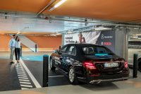 At the Mercedes museum, your rental car parks itself