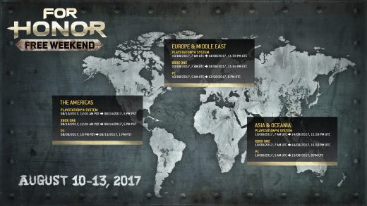 For Honor Free Weekend Runs August 10 – 13, Includes All Platforms