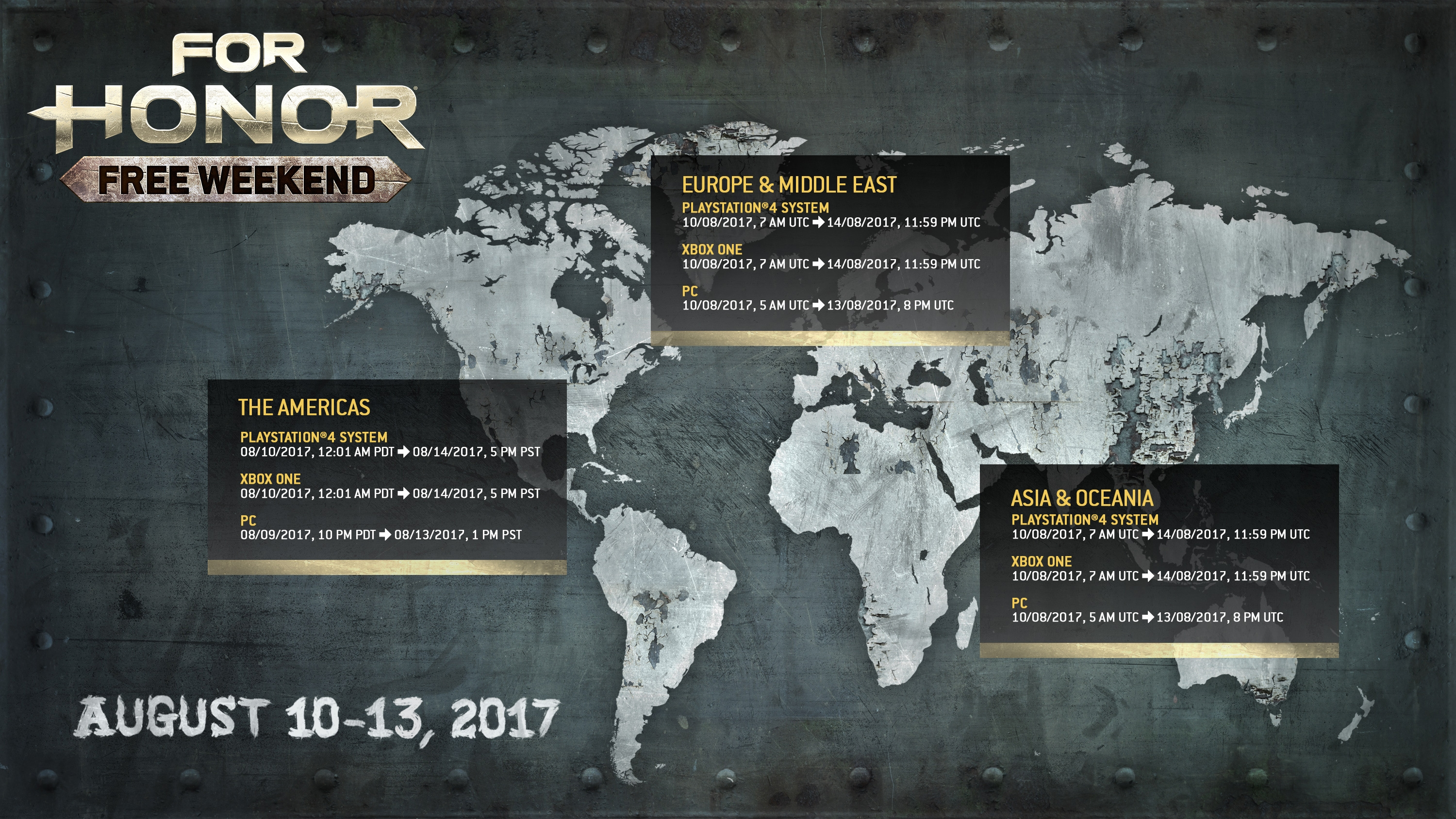 For Honor Free Weekend Runs August 10 – 13, Includes All Platforms | DeviceDaily.com