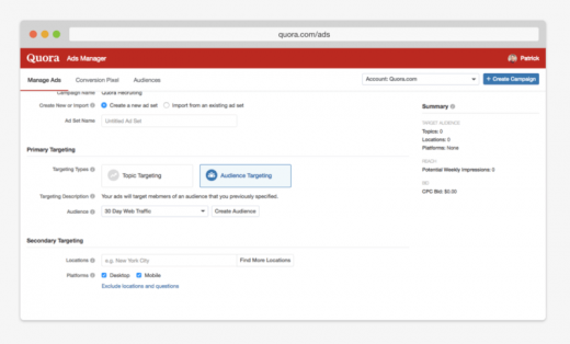 Quora launches retargeting for advertisers