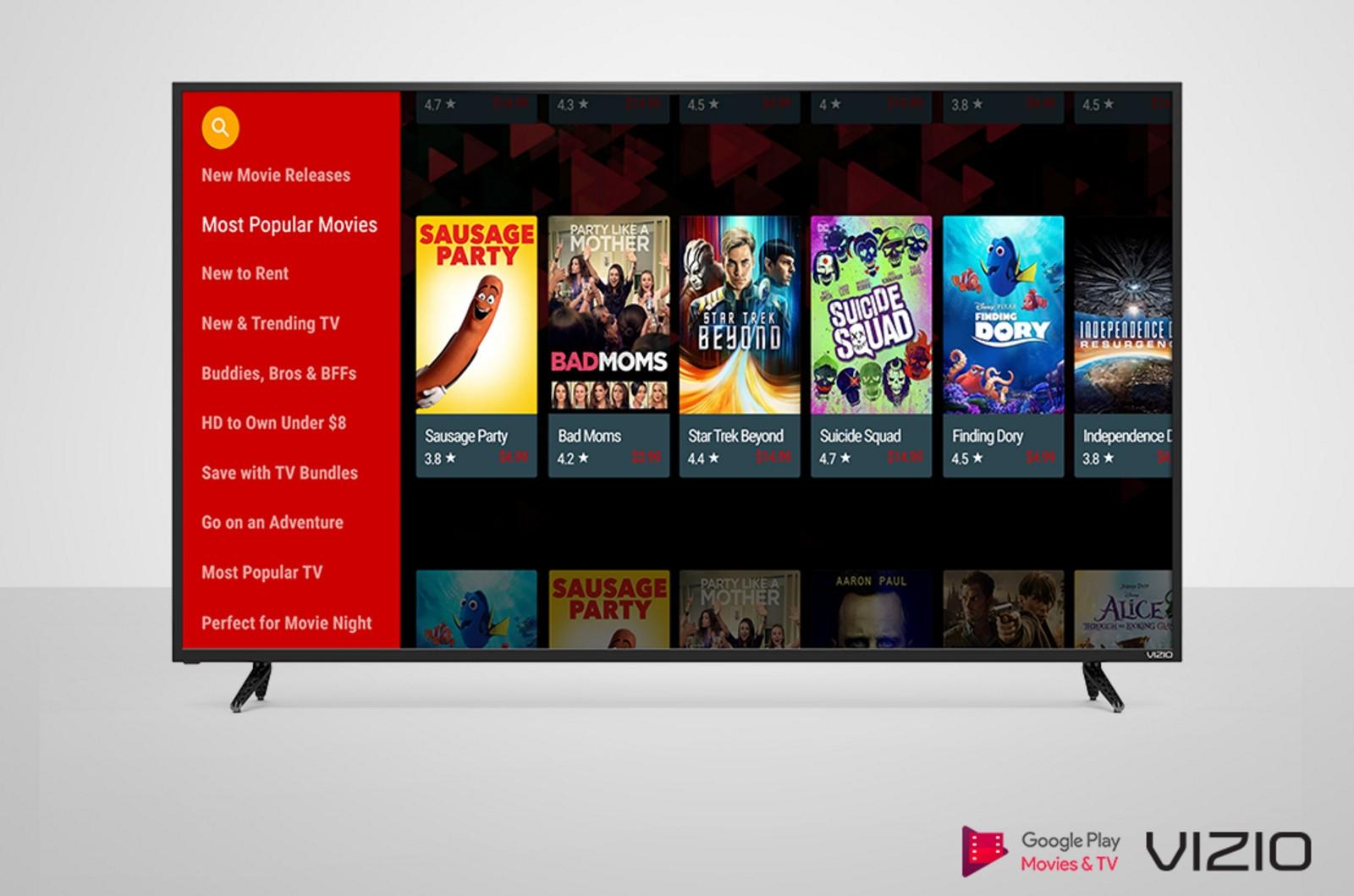 Vizio TVs add the Google Play video app | DeviceDaily.com